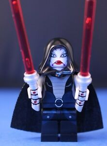 LEGO-STAR-WARS-7957-minifigure-ASAJJ-VENTRESS-SITH-ASSASSIN-2-custom-sabers