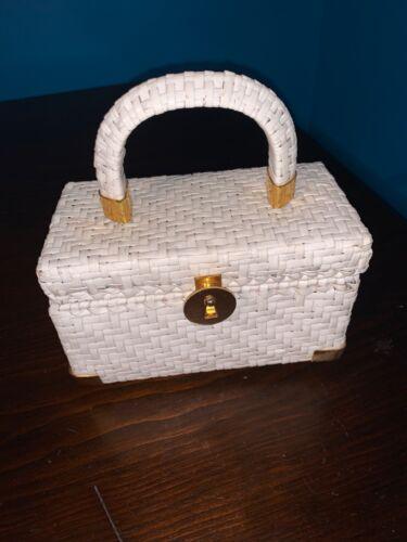 Koret Vintage Clutch Basket Weave Handbag