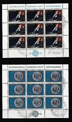 1828-1829 Europa Cept Briefmarken Clever Jugoslawien Gestempelt 1980 Kleinbogen Minr