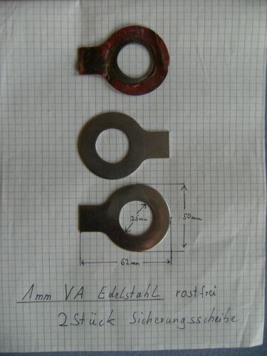 2 x Sicherungsblech IHC D-Serie Mc Cormick Achsschenkel Lenkhebel Edelstahl neu