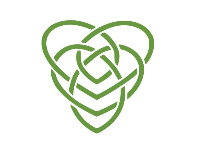 Celtic Motherhood Knot Symbol Vinyl Window Decal Lime Green 5