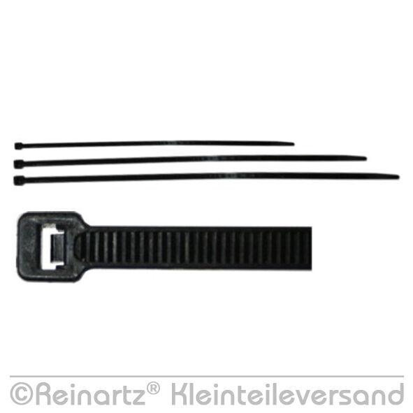 100 Stk. Kabelbinder 370 x 4,8mm NEU 370x4,8 schwarz