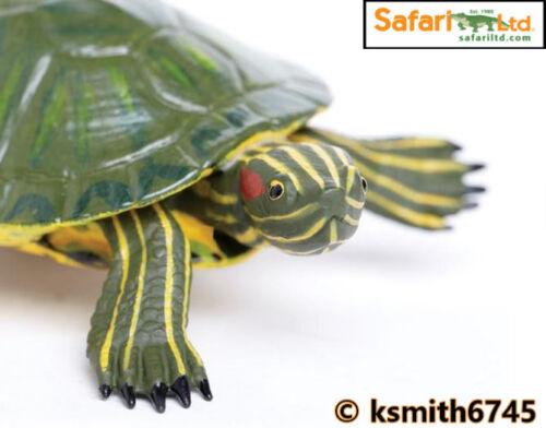 Safari Terrapin solido in plastica Toy Pet Animale Selvatico Zoo Stagno Tartaruga NUOVO *