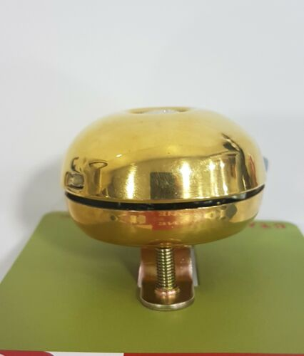 Crane Riten Brass Bicycle Bell with Steel Band Mount Fits 22.2mm to 31.8mm bars