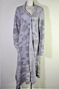 Armani-Collezioni-Brown-Floral-Wool-Blend-High-Low-Open-Front-Cardigan-Size-14
