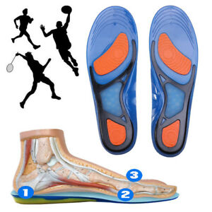 87ad211229 Image is loading Pair-Silicone-Gel-Plantar-Fasciitis-Orthotic-Insoles-Arch-