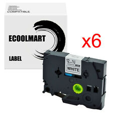 6pk Black On White Label Tz 231 Compatible With Brother Tze 231 P Touch 12mm