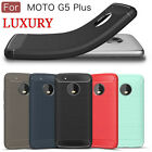 Elegant Carbon Fiber Soft TPU Silicone Case Cover Skin For Motorola Moto G5 Plus