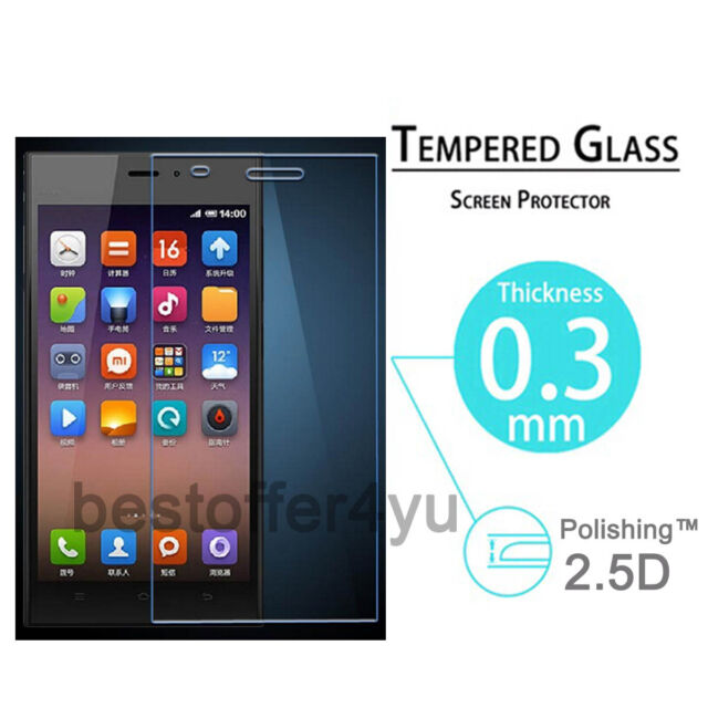 Genuine Tempered Glass Film Guard Screen Protector For Xiaomi 3 Mi3