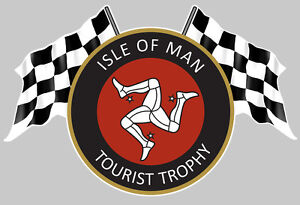isle of man tourist trophy ile de man tt autocollant sticker 12cmx8cm ia076 ebay. Black Bedroom Furniture Sets. Home Design Ideas