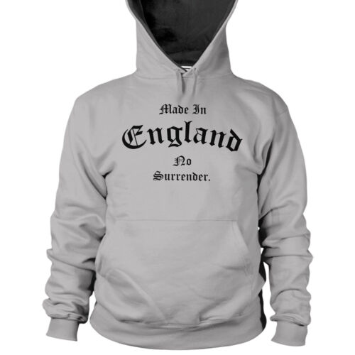 Made In England No Surrender Hoodie St Georges Day English Patriotic Men L38