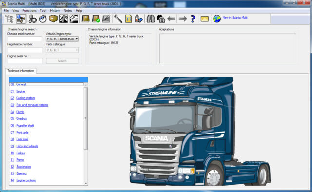 Scania Multi 12/2018 multilanguage spare parts and service manuals software