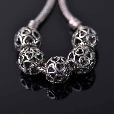 150pcs Lots Tibetan Silver Loose Spacer Charm Metal Bead Jewelry 10x4x3mm