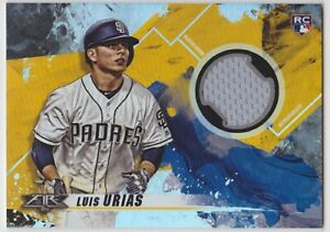 Luis-Urias-RC-Jersey-Relic-2019-Topps-Fire-San-Diego-Padres-rookie