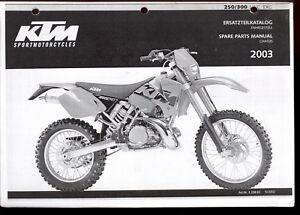 2003 ktm 250 300 mkc exc motorcycle spare parts manual. Black Bedroom Furniture Sets. Home Design Ideas