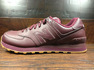 new balance 574 burgundy leather
