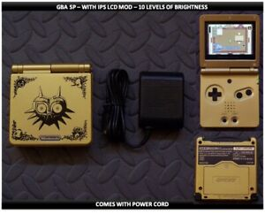 Nintendo Game Boy Advance GBA SP IPS MOD System 10 Level Brightness - Majoras