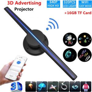 3D Hologram WIFI Fan Projector Imaging Lamp Advertising Display 224LEDs/320LEDs
