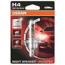 Osram Night Breaker Unlimited H4 12V 60/55W Plus 110% Headlight Bulb Single