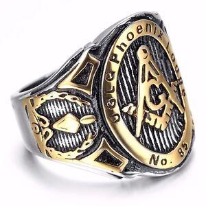Freemason Silver Gold Jewelry Motor Cycles Biker harley davidson