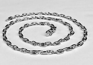 18k-Solid-White-Gold-Anchor-Mariner-Chain-Necklace-4-5MM-55-grams-30-034