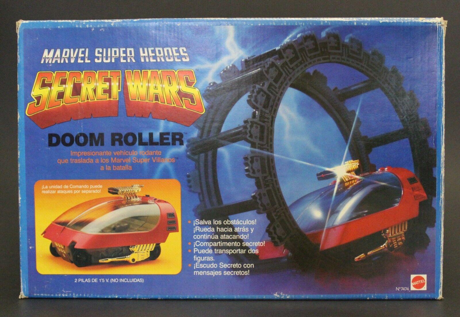 1984 Mattel   Congost MARVEL  SECRET guerras DOOM ROLLER w  Spanish vintage scatola nuovo  prezzo ragionevole