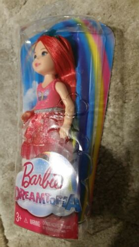 BARBIE DREAMTOPIA RAINBOW COVE RED SPRITE CHELSEA DOLL Damaged Packaging