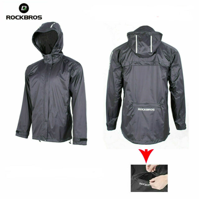 ROCK BROS Mens Waterproof Cycling Jacket Windproof Raincoat for Bike Running