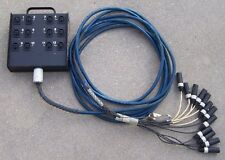 Whirlwind Medusa 12 Channel Audio Snake W/Stage-Box And 12 Male XLR Fanout, 23'
