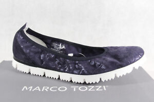 Details about Marco tozzi Ballerinas Slipper Shoes Court Shoes Grey New