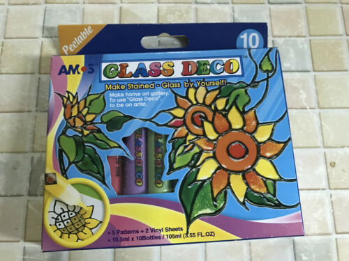Amos 10 colors peelable glass deco Kit FREE POSTAGE