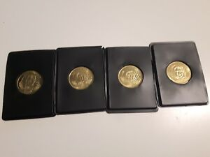 Lot-of-4-1996-97-Pinnacle-Mint-collection-Brass-coins