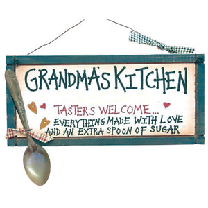 5-5-034-X-12-034-Grandma-039-s-Kitchen-034-Tasters-Welcome-034-Wood-Sign
