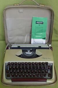 Machine à écrire-reiseschreibm. Olympia sf-Olympia werke AG wilhelmshaven-e - Reiseschreibm. Olympia SF - Olympia Werke AG Wilhelmshaven afficher le titre d`origine aPHtH5aw-08051639-424260491