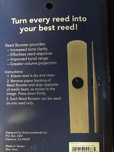 Reed Booster for Tenor Saxophone or Bass Clarinet