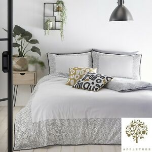 Appletree-DOTTIE-White-180-TC-100-Cotton-Percale-Duvet-Cover-Set