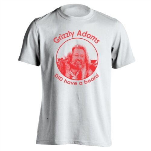 Grizzly Adams Did Have A Beard  Happy Gilmore White Basic Men/'s T-Shirt
