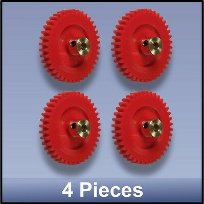 40 MM 38 TOOTH MODULE 1 PRECISION MOULDED BRASS HUB NYLON 66 GEAR - 4 pieces