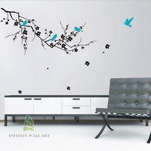 Wall-Stickers-Art-Murals-Decals-Home-Vinyl-Tree-Flower-Kids-Butterfly-Decor-P156