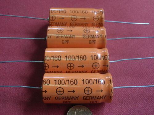 Condensador alta voltios 100µf 160v = axial d18 x 40mm 4x 24236