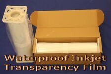 Waterproof Inkjet Transparency Film 17 X 100 Roll 4mil