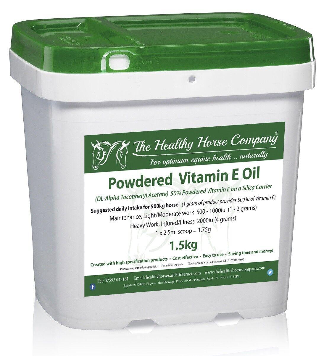 Vitamin E Oil - 1.5kg Refill - 50% Powdered Vit E Oil - Silica Carrier