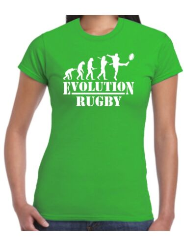 Ladies Rugby T Shirt Rugger Top Team World Cup Kit Just the Ticket Womans League