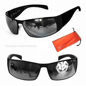 Rennec-Sonnenbrille-Schmal-Schwarz-Matt-Bikerbrille-Herren-Security-Gangster-938