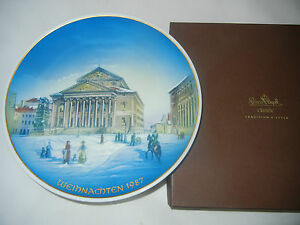 Rosenthal-Christmas-Plate-1987-Munich-Nationaltheater-Boxed-Int-No-87-7