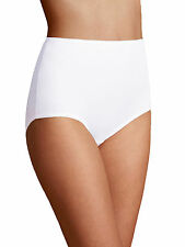 M & S Size 20 Cotton Rich Full Briefs Knickers Panties Stretchy White