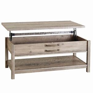 MODERN FARMHOUSE LiftTop COFFEE TABLE STORAGE LIVING ROOM RUSTIC