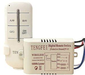 Timer Accensione Spegnimento Luci.Dettagli Su Telecomando Per Controllo Luci Interruttore Centralina Wireless 2 Canali Timer