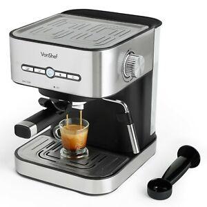 Details About Vonshef Professional Espresso Coffee Maker Machine 15 Bar Digital Barista Latte