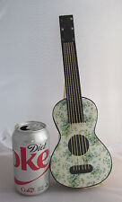 Antique Christmas Dresden Paper Figural Guitar Candy Container HUGE Ornament